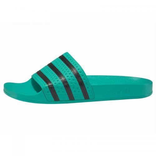 sports shoes 59922 5ebcd Adidas Originals - Mules ADILETTE adidas Originals - Vert - Noir - Sandales  femme