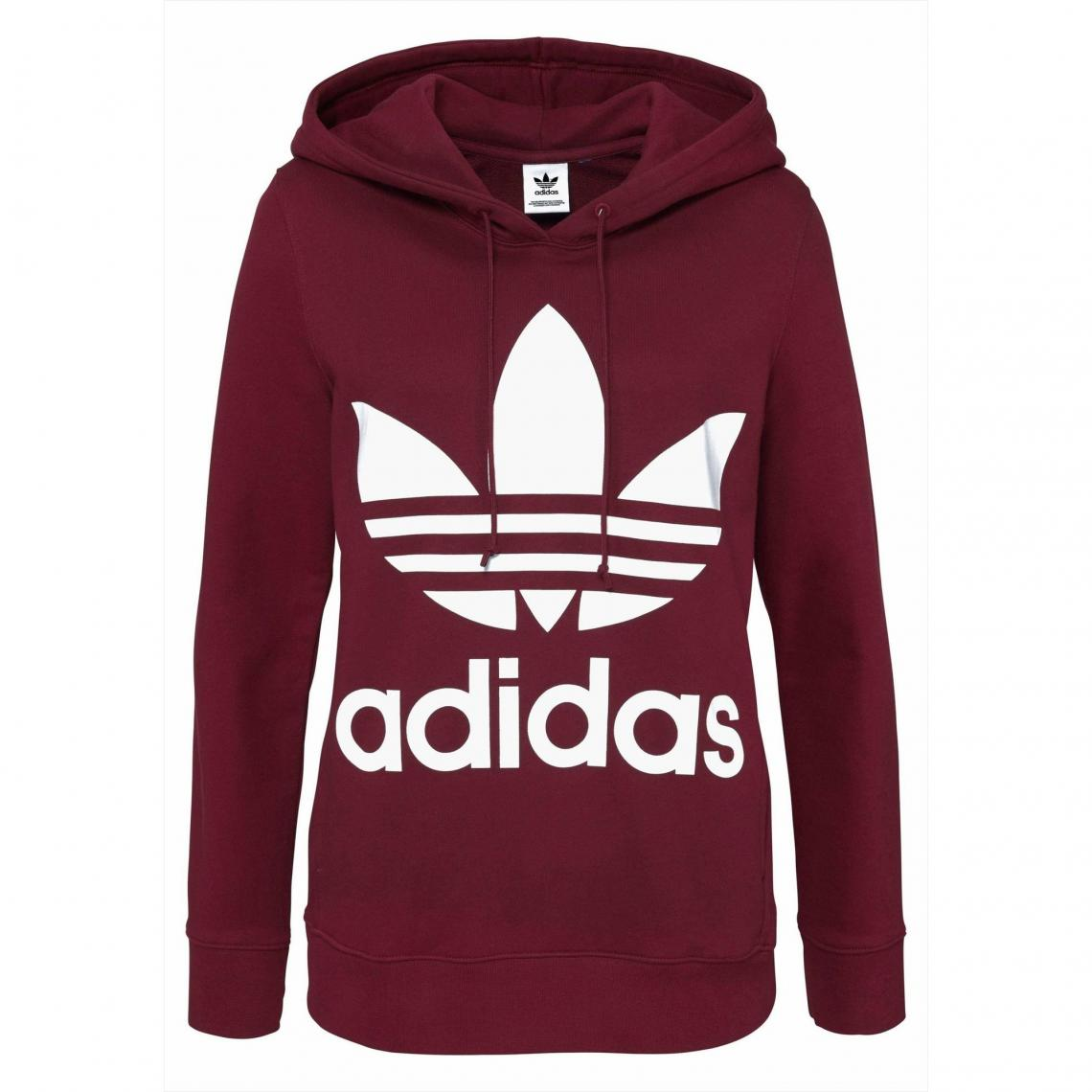 cfd5c242c232 Sweat enfilable à capuche femme adidas Originals - Bordeaux Adidas Originals