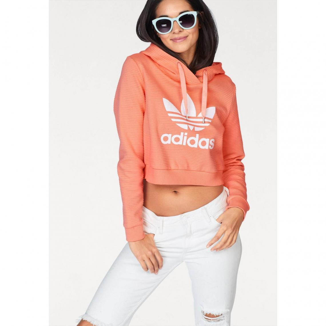 b1dba47033d Sweat à capuche femme adidas Originals - Corail Adidas Originals Femme