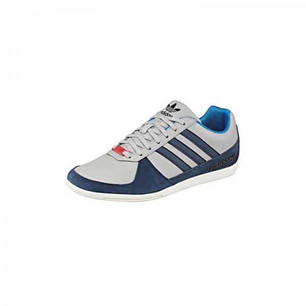 Tennis Adidas Original blanches et bleues homme