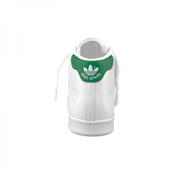 chaussures de sport 89de8 1cf34 Sneakers Stan Smith Mid adidas Originals homme - Blanc/vert