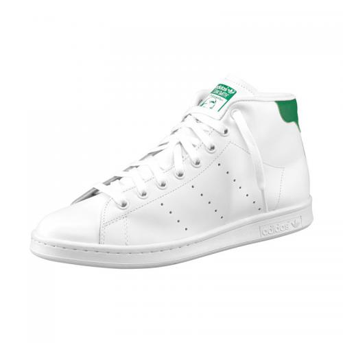 Adidas Originals - Sneakers Stan Smith Mid adidas Originals homme - Blanc/vert - Baskets