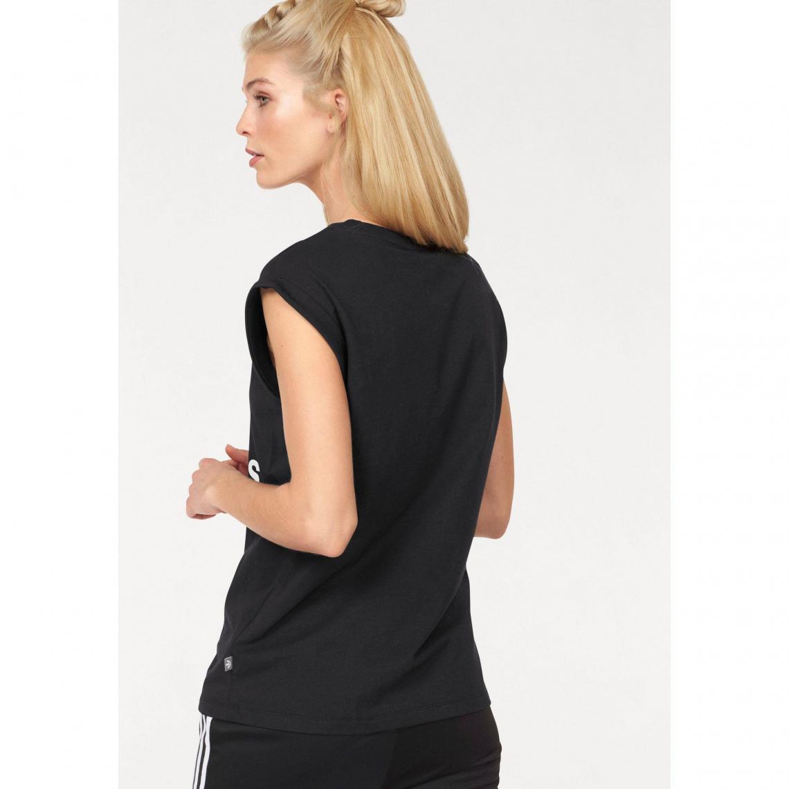 Tee-shirt femme Bf Trefoil Roll up Tee adidas Originals - Noir  b68c05c84f3