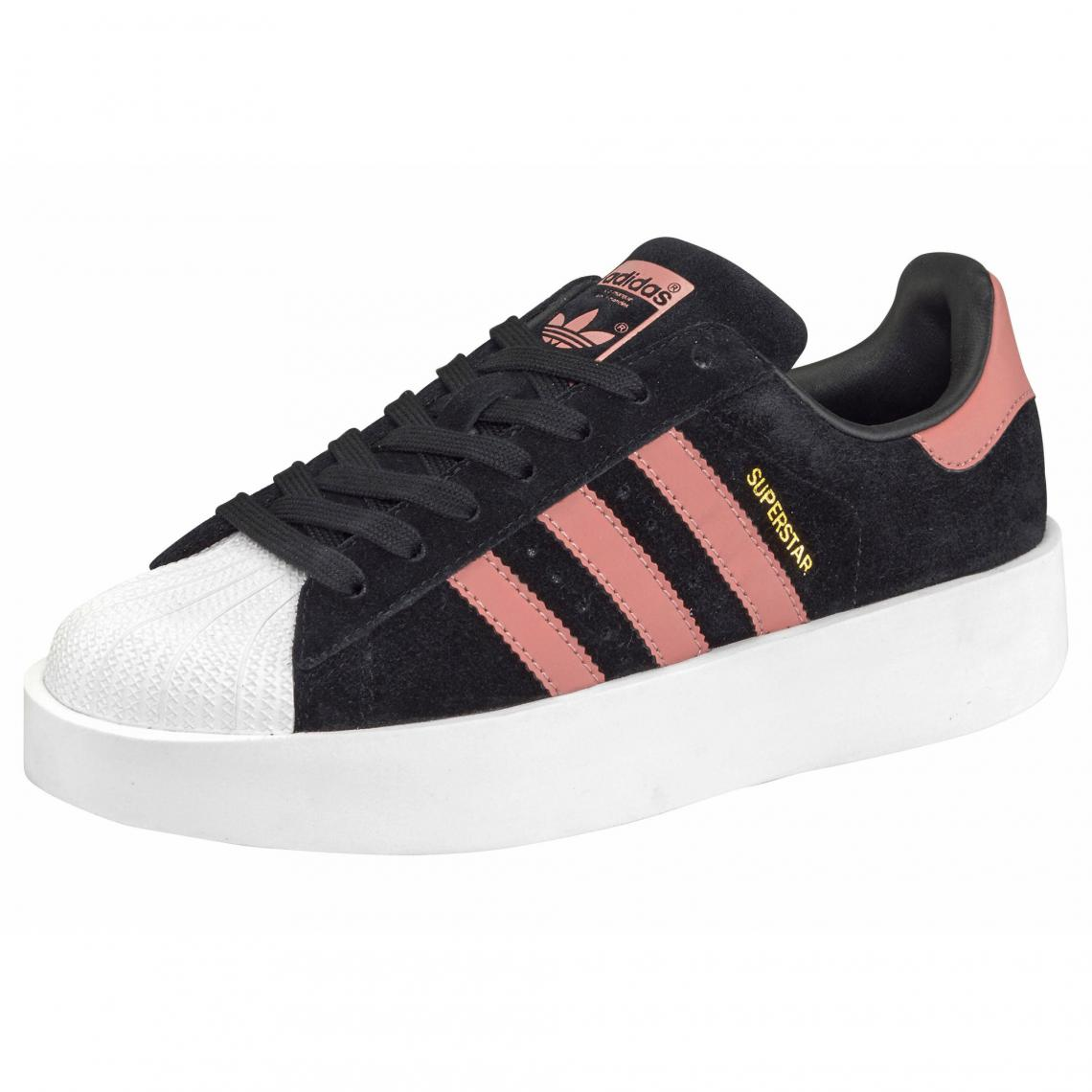 a569844a607c6 adidas Originals Superstar Bold Platform sneakers basses femme - Noir -  Rose Adidas Originals Homme