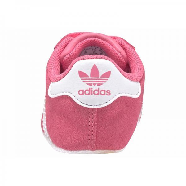 Chaussures premiers pas bébé Gazelle Grib adidas Originals Rose Vif Blanc Plus de détails