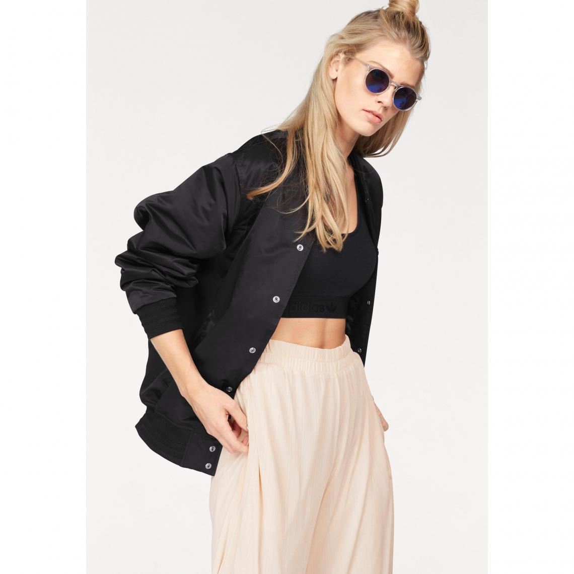 24f59e64ea2 Blouson rembourré Stlying Compliments Jacket SST femme adidas Originals -  Noir Adidas Originals Femme