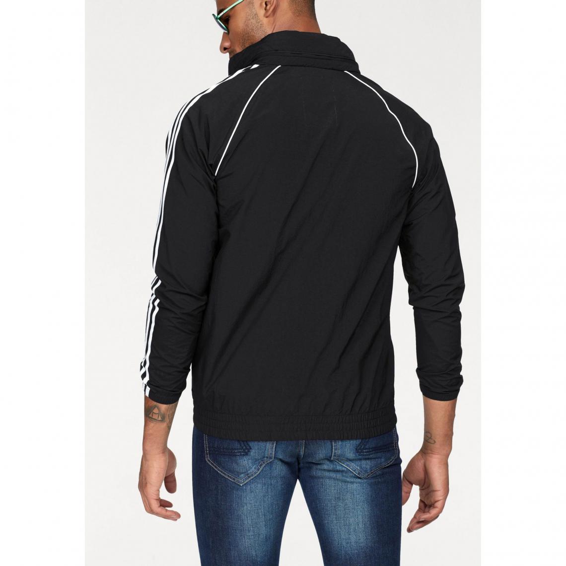 3c254d7897318 Veste zippée coupe-vent à capuche homme adidas Originals - Noir | 3 ...