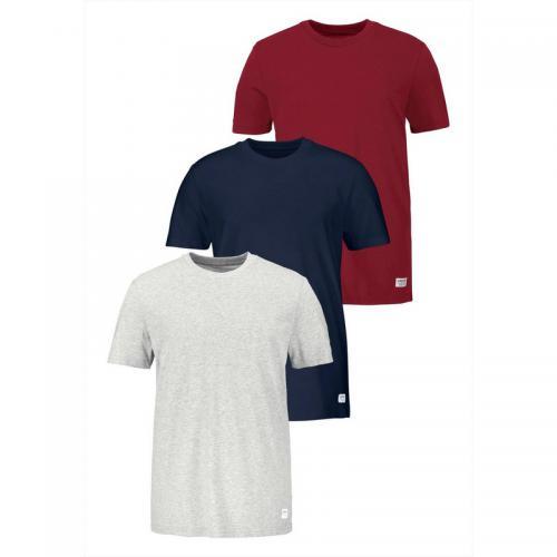 lot de 3 tee shirt manches courtes homme adidas rouge. Black Bedroom Furniture Sets. Home Design Ideas