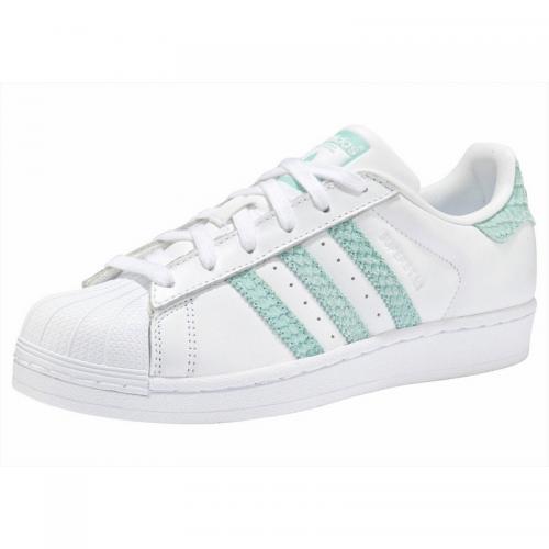 5a1e260cc3989 Adidas Originals - SUPER STAR W Q2 adidas Originals pour femme - Blanc -  Menthe -
