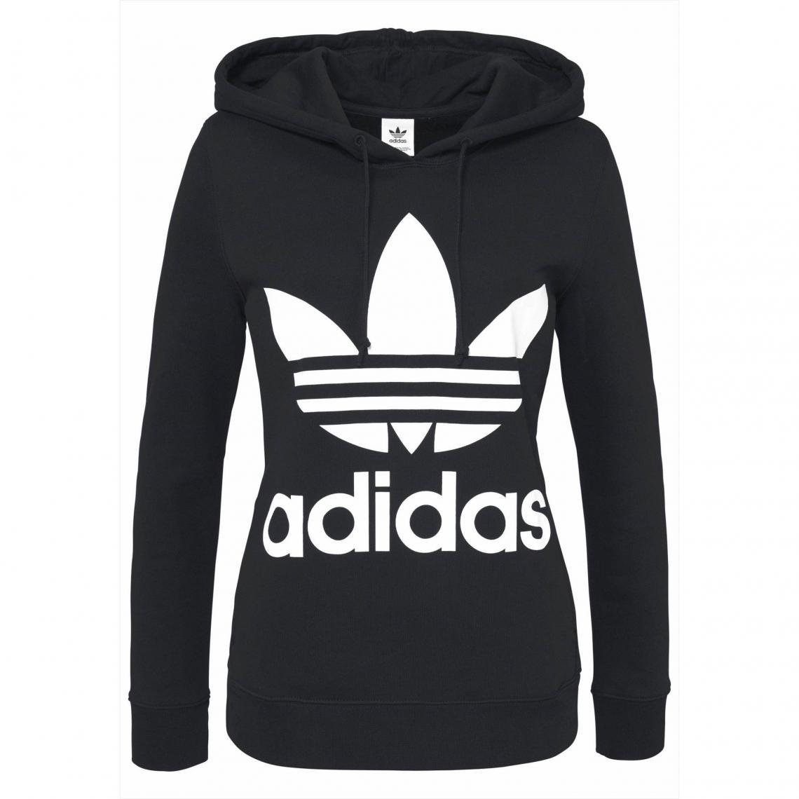 2affdd22a5bdb Sweat enfilable à capuche femme adidas Originals - Noir Adidas Originals