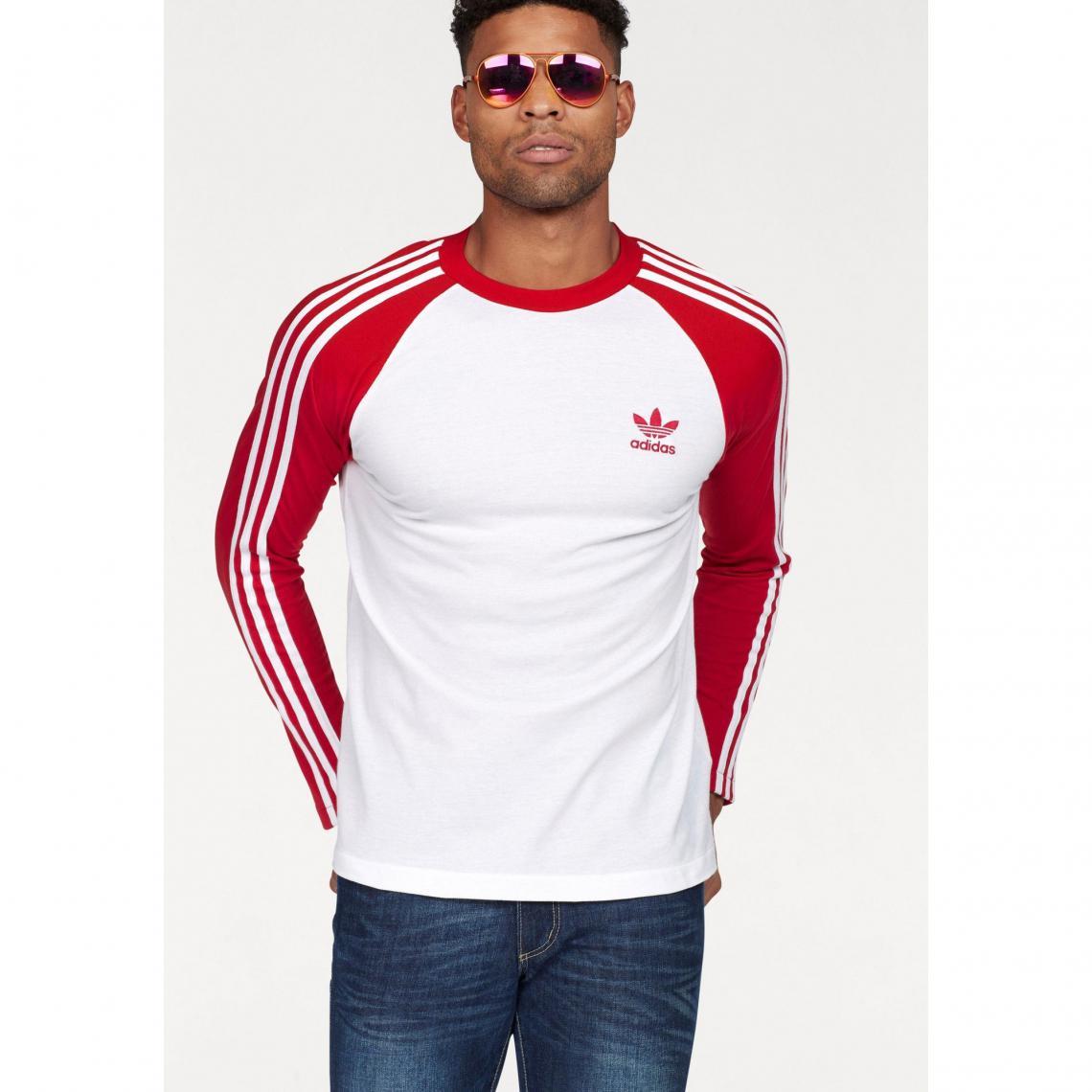 T-shirt manches courtes camouflage homme adidas Originals® - Blanc - Rouge  Adidas Originals 4174d332a358