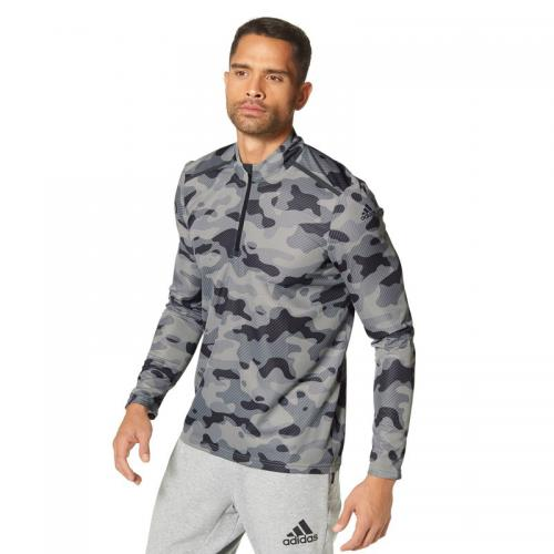 Adidas Performance - T-shirt sport manches longues technologie Polygiene® et Climacool® adidas - Noir - Camouflage - T-shirts sport homme