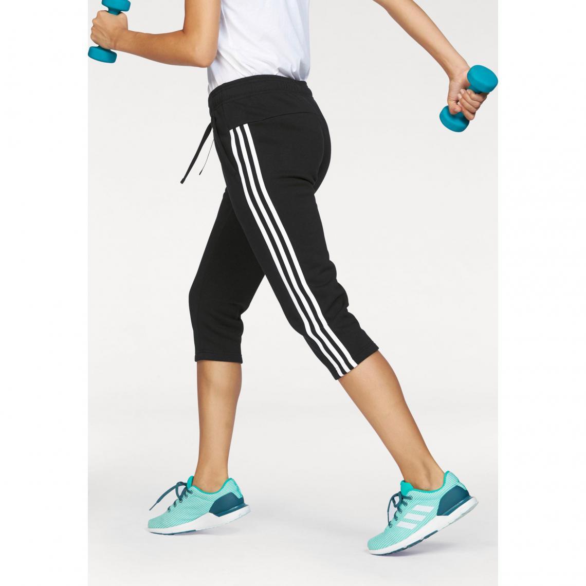 Jogging adidas Performance Essential 3S 34 pant femme - Noir  9333bdea01d