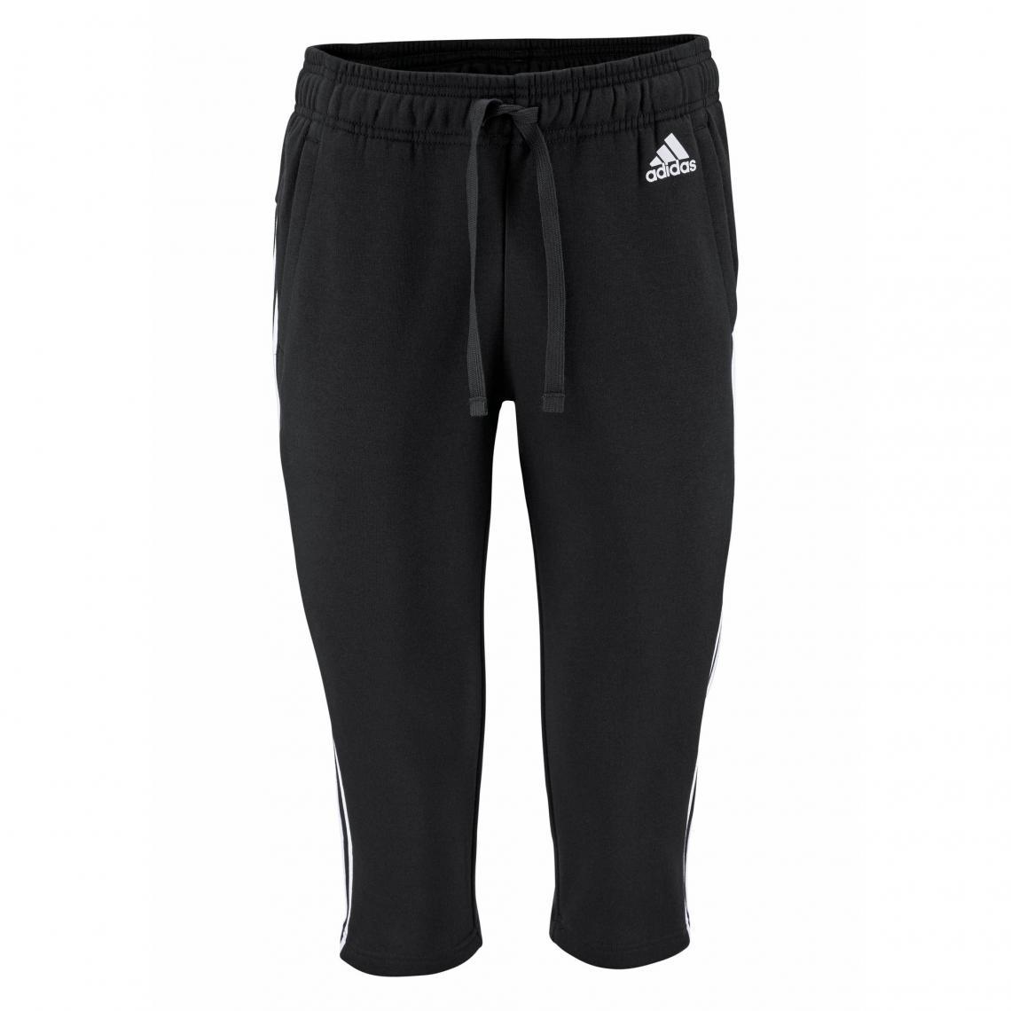 dc964a3aaac52 Jogging adidas Performance Essential 3S 3 4 pant femme - Noir - Blanc Adidas  Performance