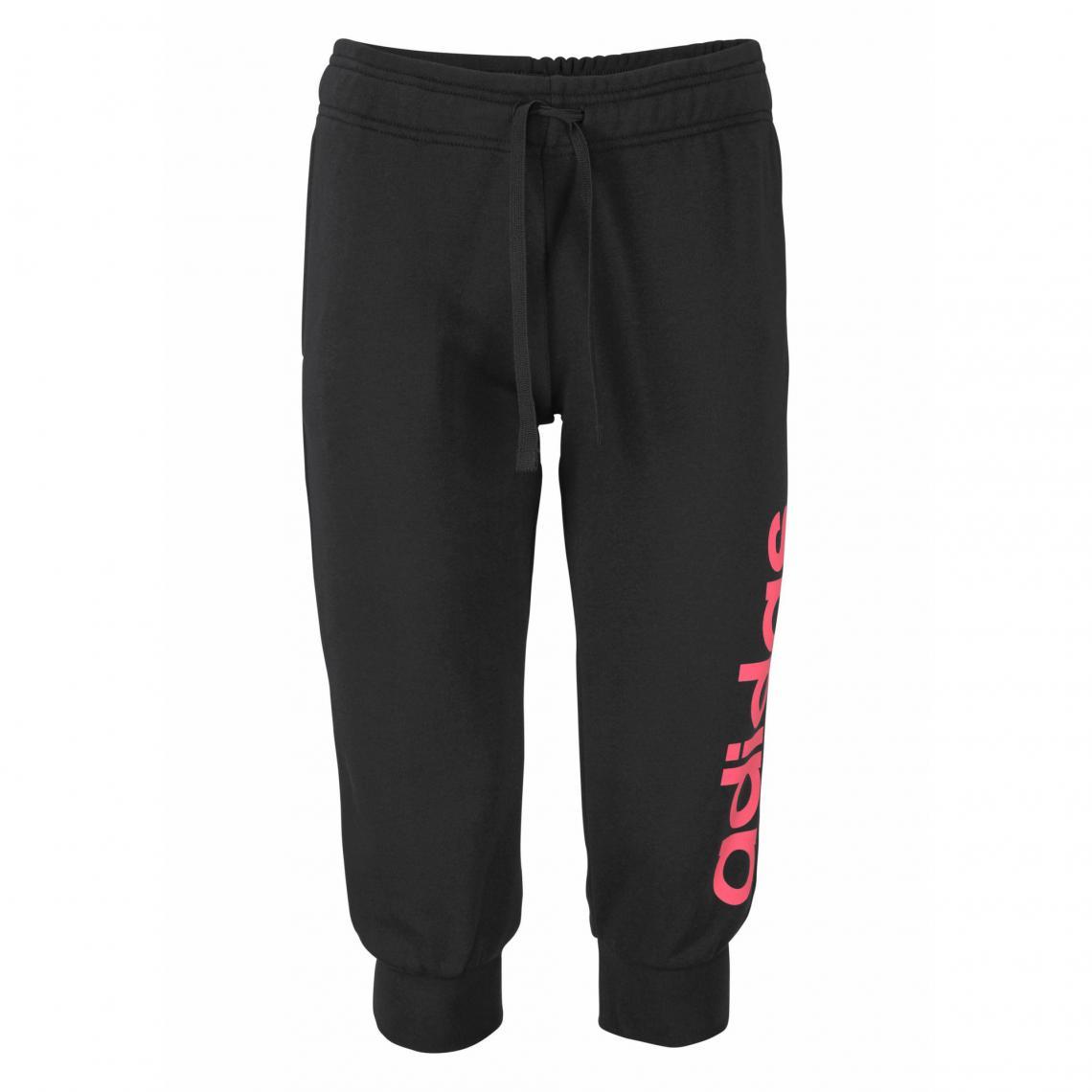 Jogging ADIDAS Performance Essential Linear ¾ pant pour femme - Noir Adidas  Performance 3dfb7fb39b1