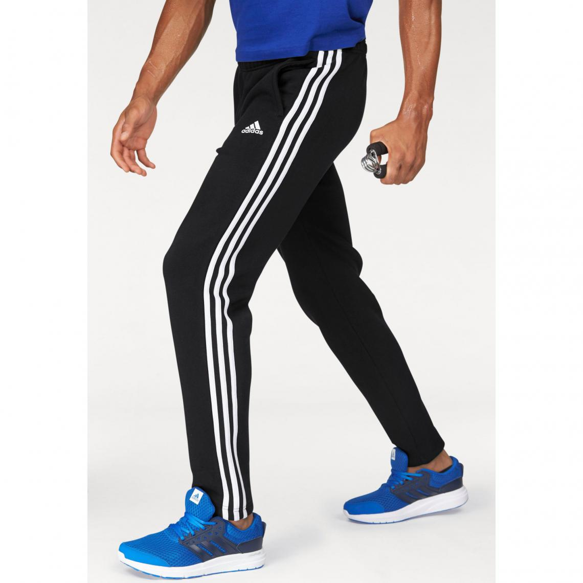 Jogging adidas Performance Essential 3S Tapered Fleece Pant homme - Noir  Adidas Performance Homme f9bc03af5cd