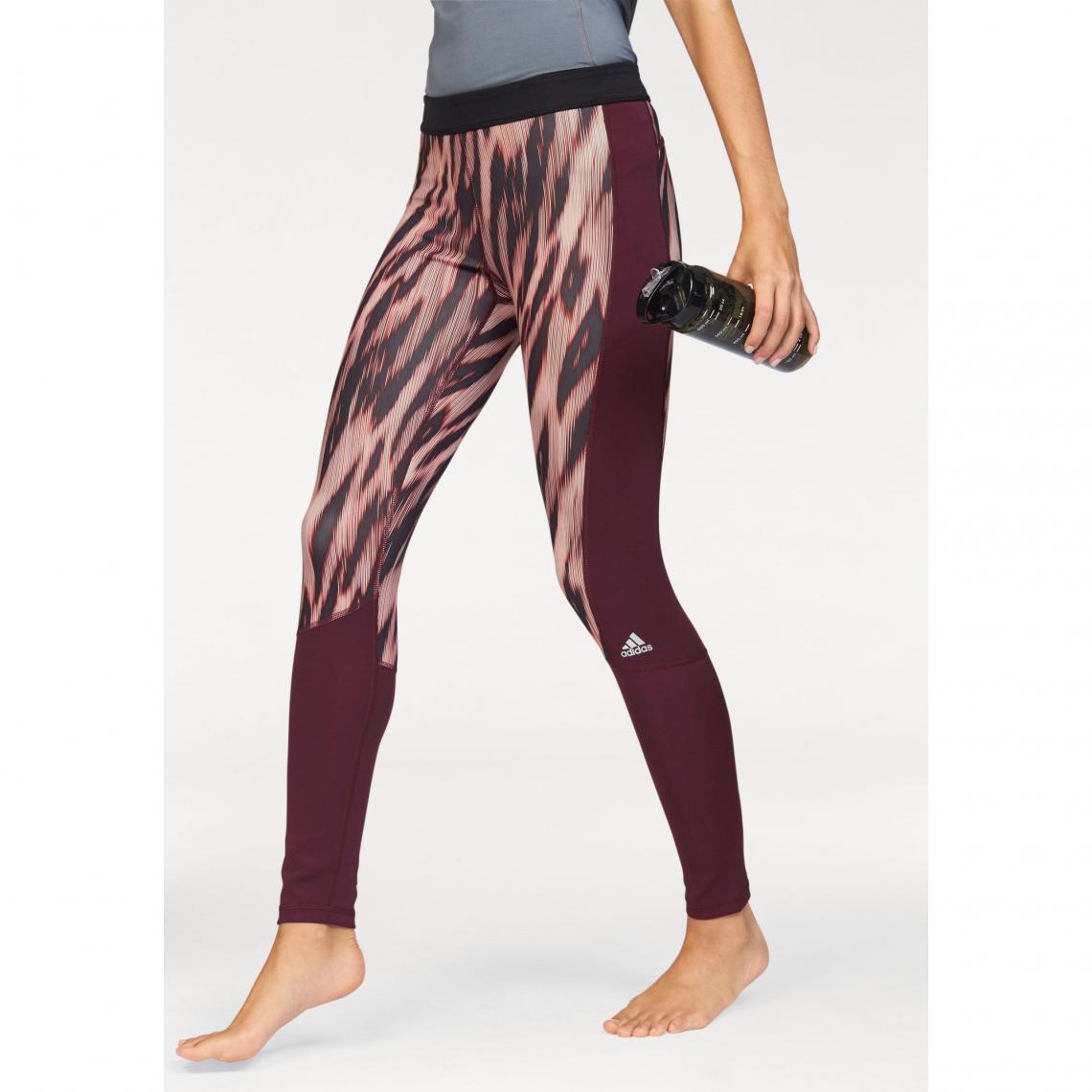 Legging de sport imprimé femme Climalite® TechFit® adidas Performance -  Rouge Adidas Performance Femme b0cfaf44a6c