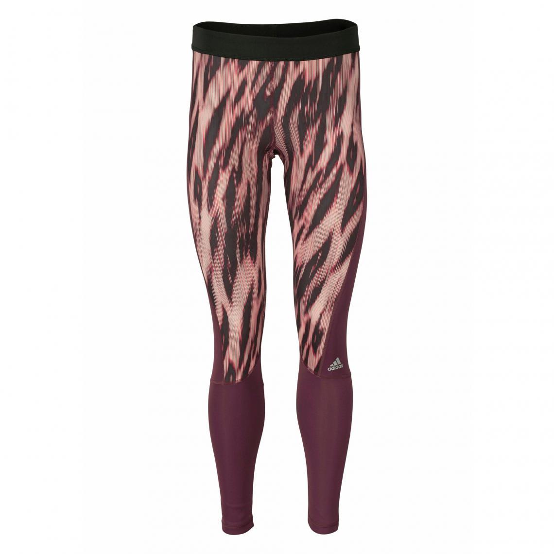 Legging de sport imprimé femme Climalite® TechFit® adidas Performance -  Rouge Adidas Performance 29f3dddd421