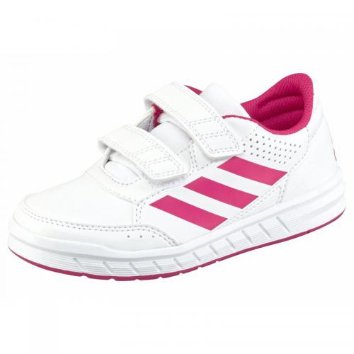 Adidas Performance - Sneaker velcro fille AltaSport CF K adidas Performance - Blanc - Rose Vif - Vêtements fille