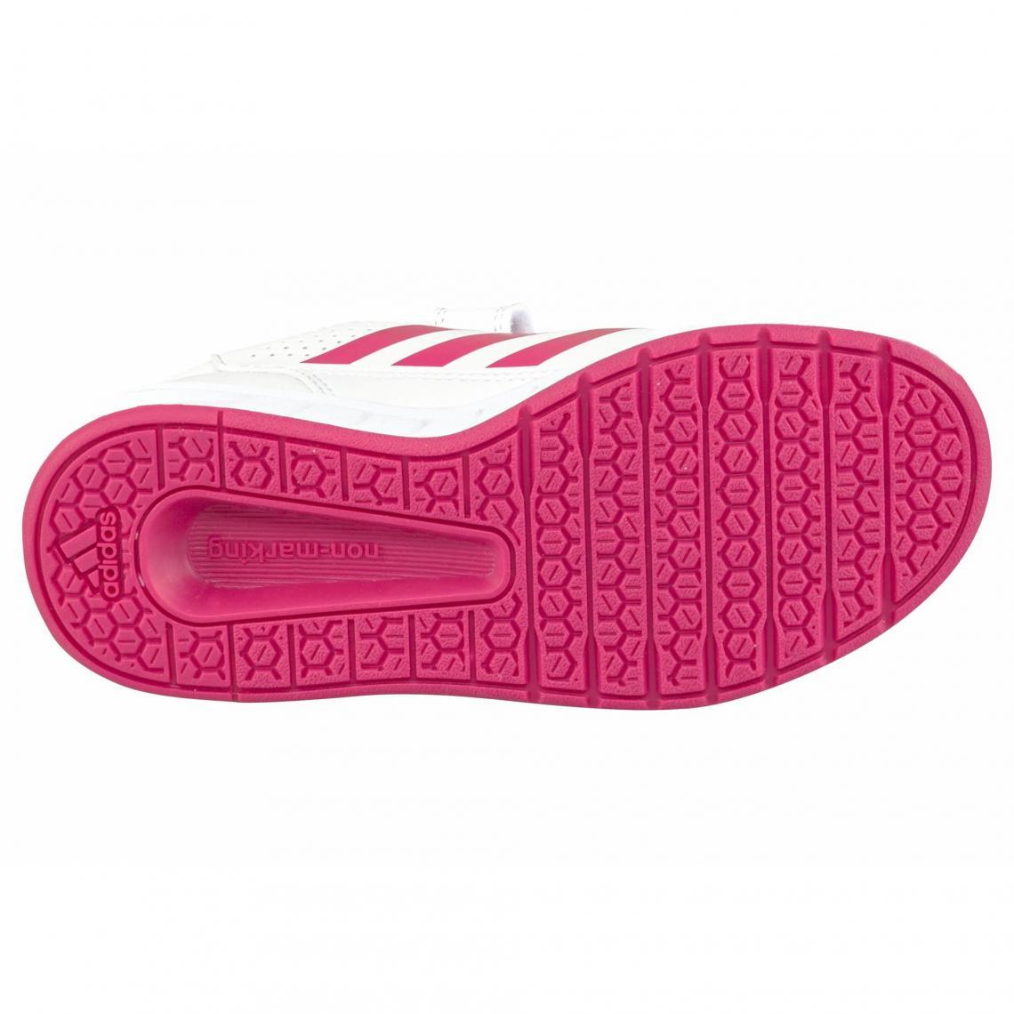 8fef3285cad31 Sneaker velcro fille AltaSport CF K adidas Performance - Blanc - Rose Vif  Adidas Performance