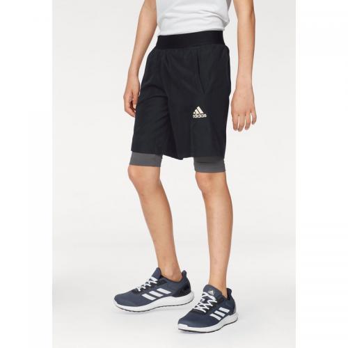 Adidas Performance - Short 2 en 1 Climalite® adidas Performance pour garçon  - Noir - 3e231a144cc