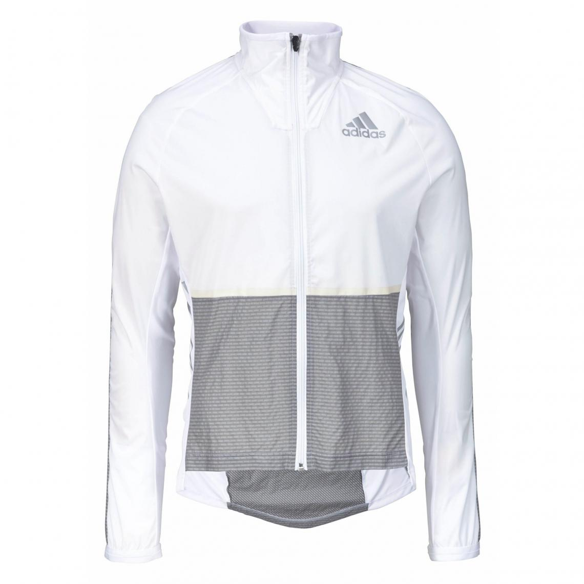 veste adidas hommes blanche