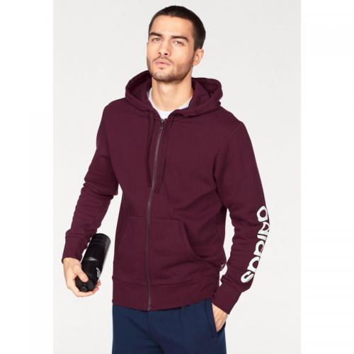 Adidas Performance - Veste de sport à capuche Essentials Linear Full zip Hood Fleece homme adidas Performance - Vert Foncé - Promos vêtements homme