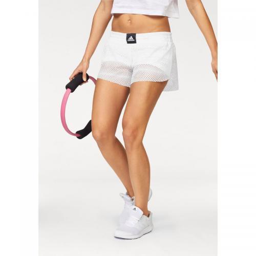 Adidas Performance - Short femme 2 en 1 Mesh adidas Performance - Blanc - Shorts  de a011bc0bf36