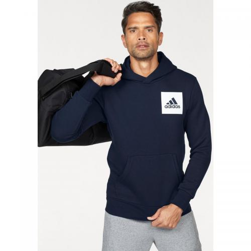 Adidas Performance - Sweat à capuche homme Essentials Chest Logo Pullover Hood Fleece adidas Performance - Marine - Promos vêtements homme
