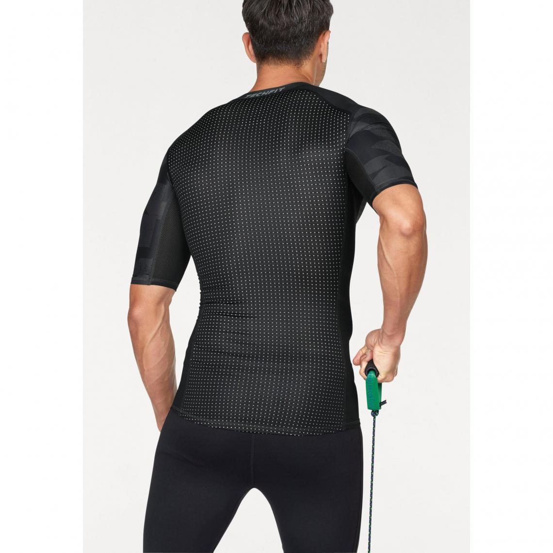 8611bdd43a9 T shirts imprimés homme Adidas Performance Cliquez l image pour l agrandir.  T-shirt manches coudes adidas Performance Techfit Climalite® ...