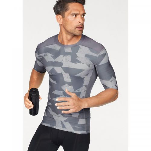 Adidas Performance - T-shirt manches coudes adidas Performance Techfit Climalite® pour homme - Gris - T-shirts homme