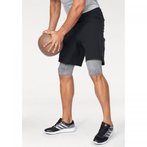 Adidas Performance - Short 2 en 1 Crazy Train adidas Performance pour homme - Noir - Gris - Promos vêtements homme