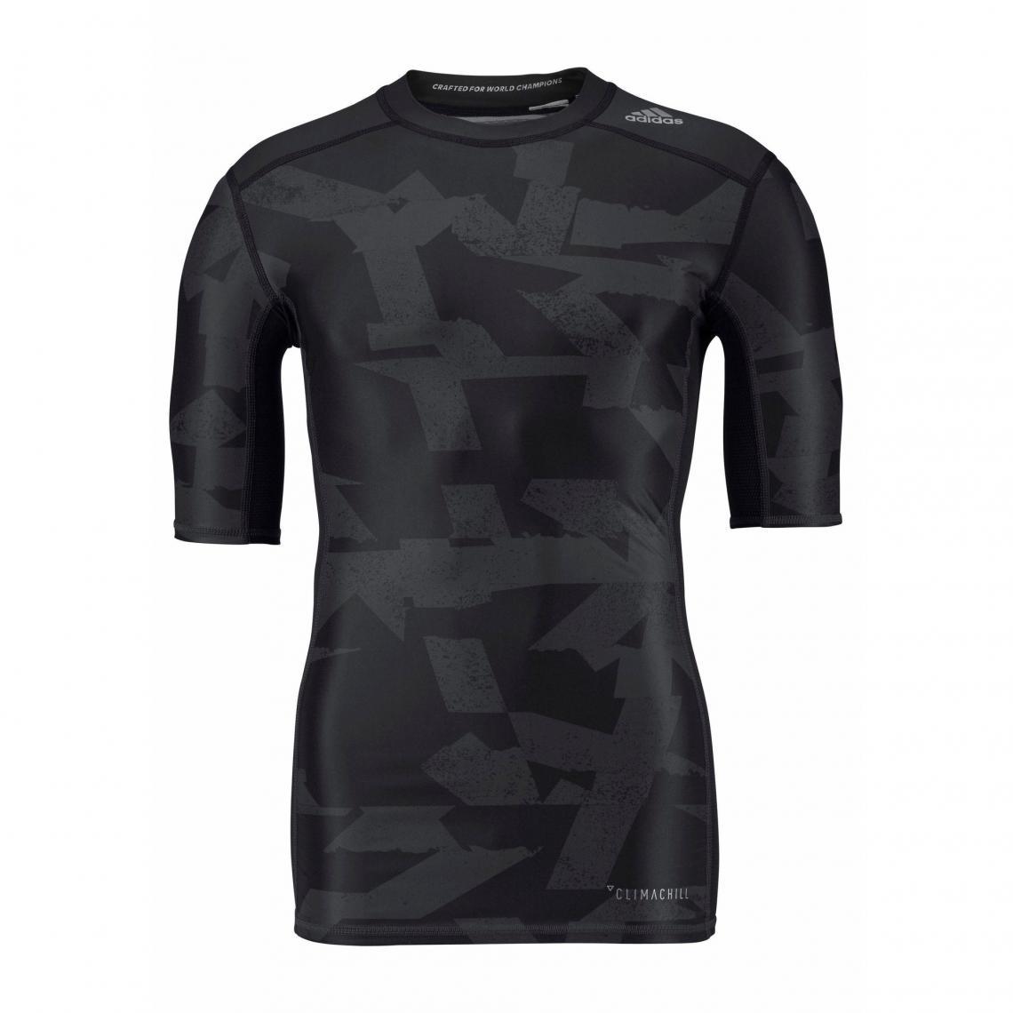 1f7e4799a96 T-shirt manches coudes adidas Performance Techfit Climalite® pour homme -  Noir Adidas Performance