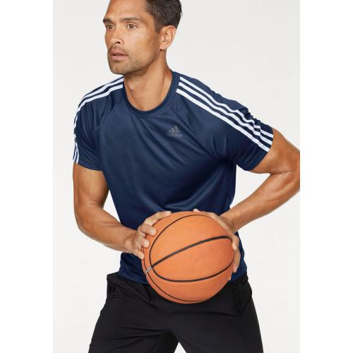 Adidas Performance - T-shirt de sport manches courtes homme Climalite® 3 Stripes Adidas Performance - Bleu - Vêtement de sport