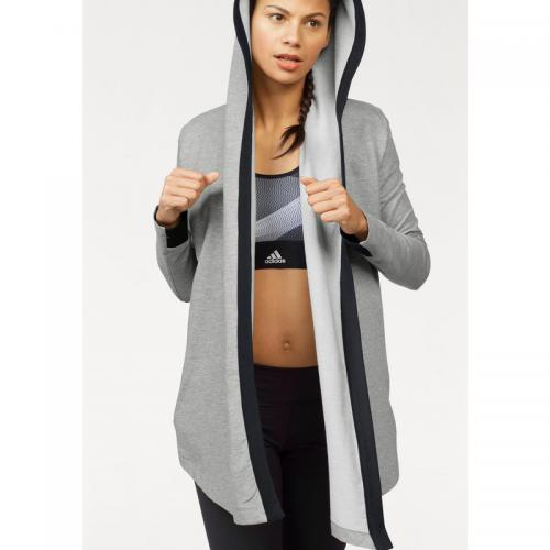 Adidas Performance - Veste longue à capuche femme Wrap me up cover up adidas Performance - Gris - Adidas Performance