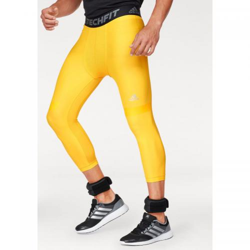 Adidas Performance - Collant 3/4 adidas Performance Techfit Climalite® pour homme - Jaune - Vêtements homme