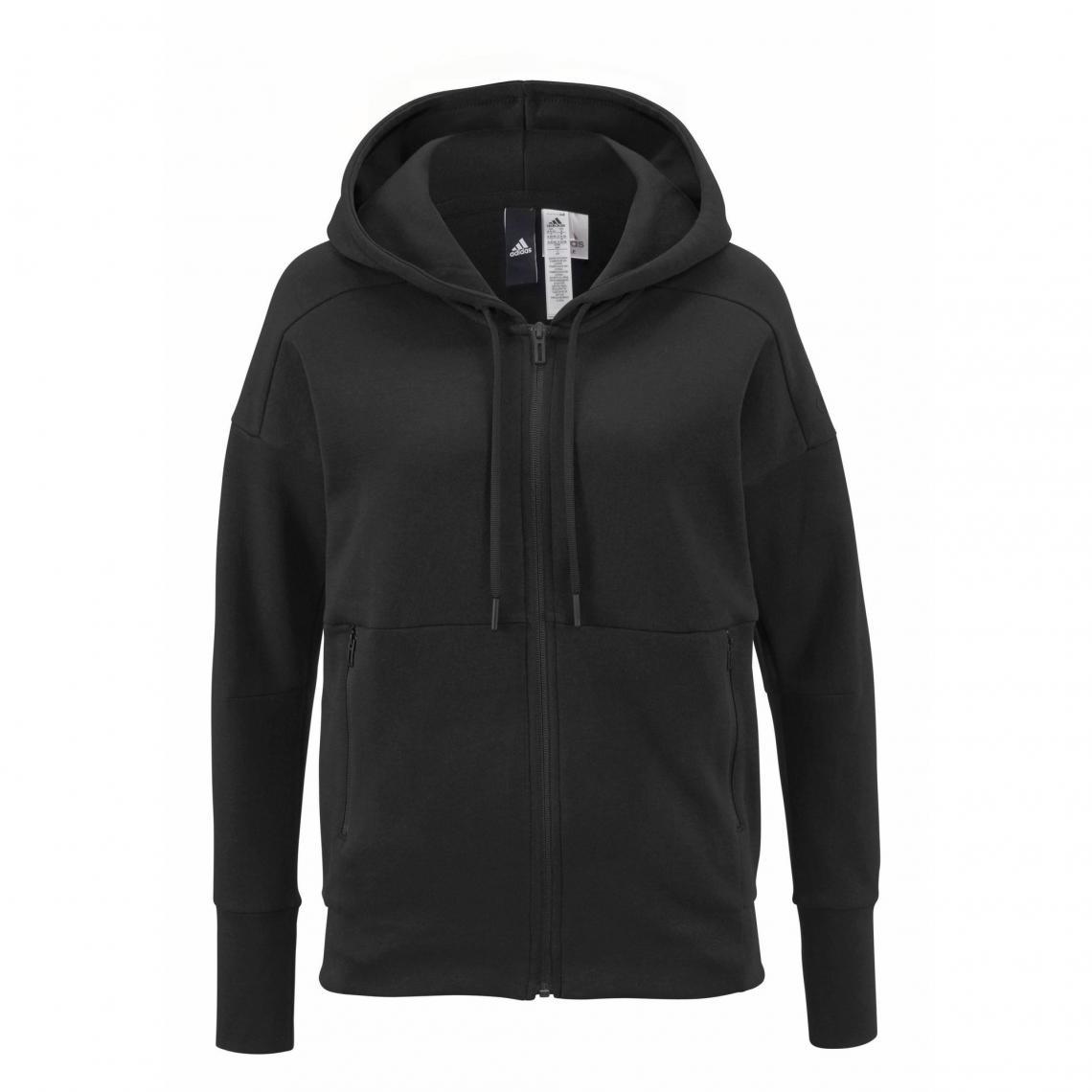 6c3194ba16 Sweat zippé manches longues à capuche femme ID Stadium adidas Performance -  Noir Adidas Performance