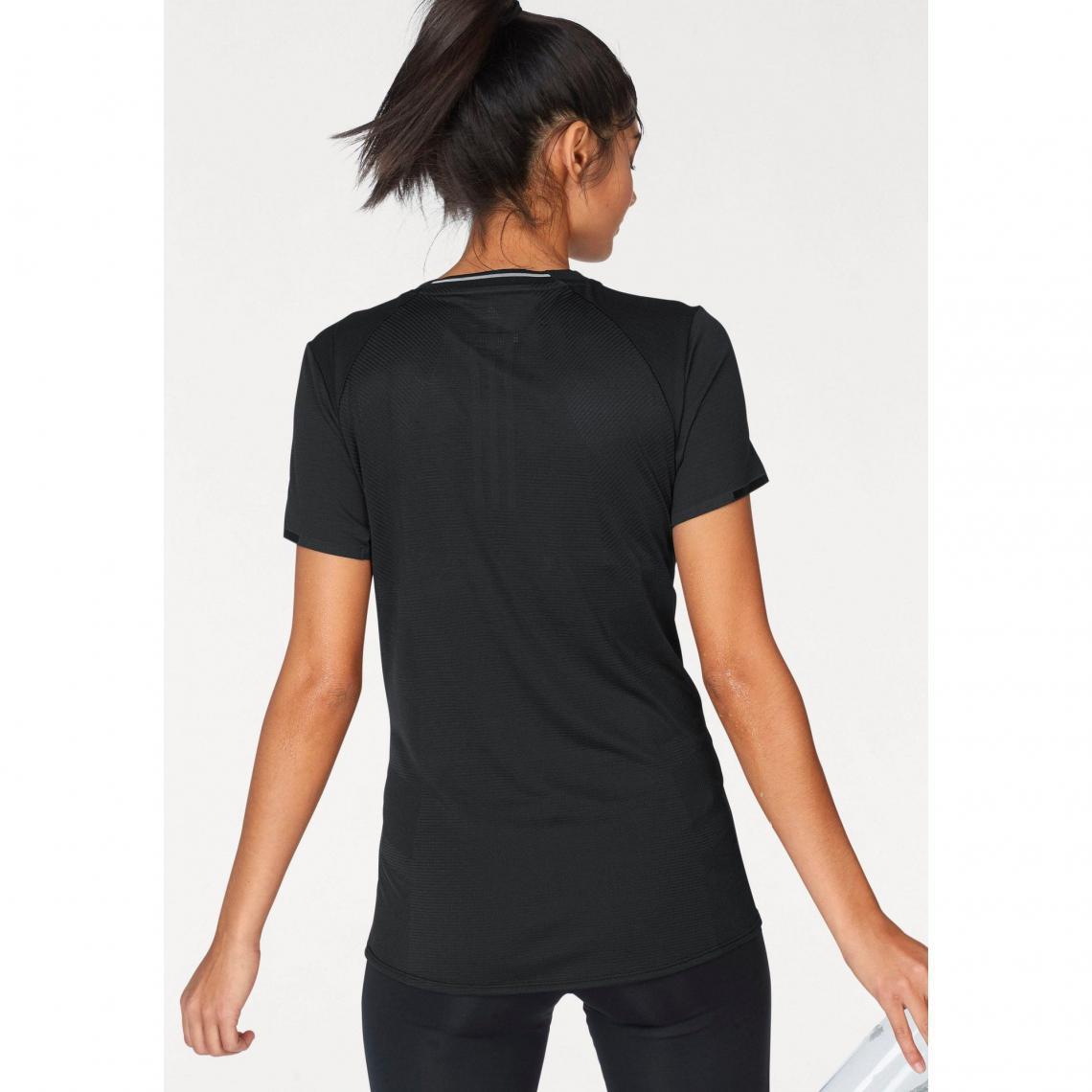 T shirt col rond manches courtes femme Climalite® Supernova adidas Performance Noir Plus de détails