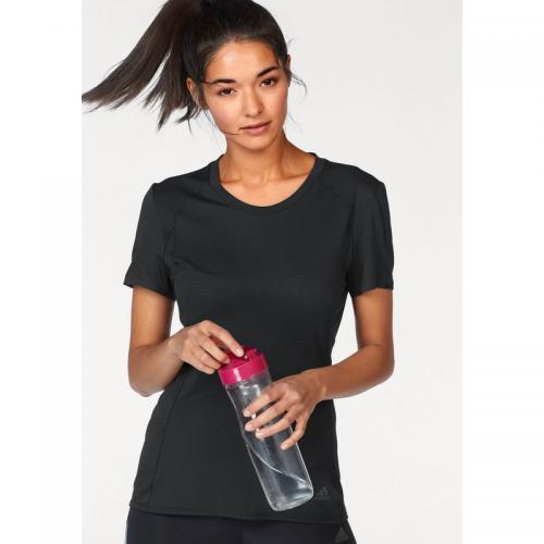 Adidas Performance - T-shirt col rond manches courtes femme Climalite® Supernova adidas Performance - Noir - Promos Sport Femme