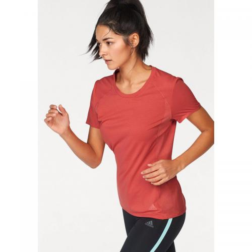 Adidas Performance - T-shirt col rond manches courtes femme Climalite® Supernova adidas Performance - Rouge - Vêtement de sport