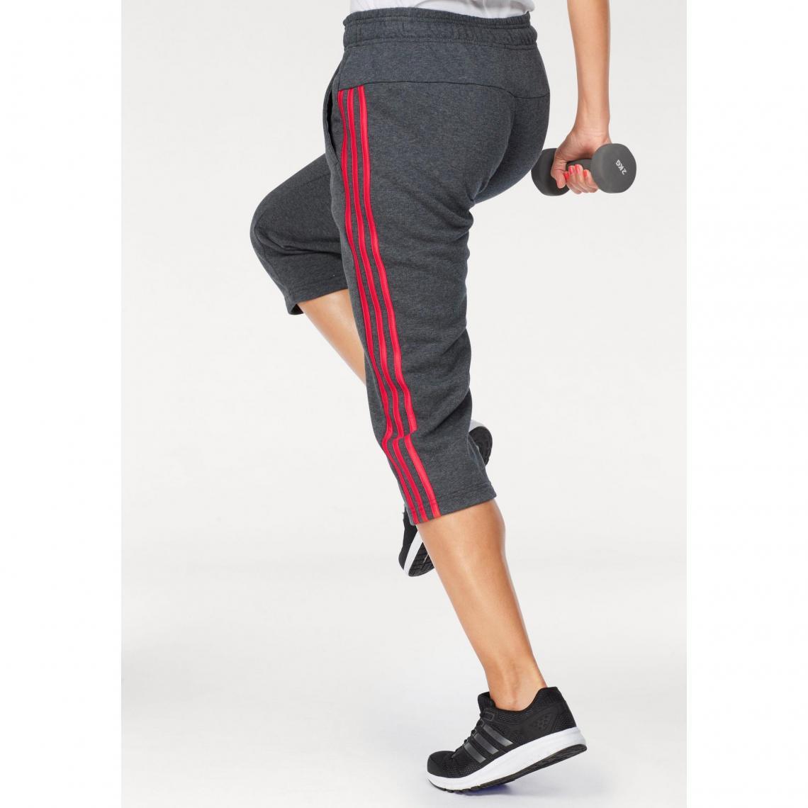 Jogging adidas Performance Essential 3S 34 pant femme - Gris  4d52d694521