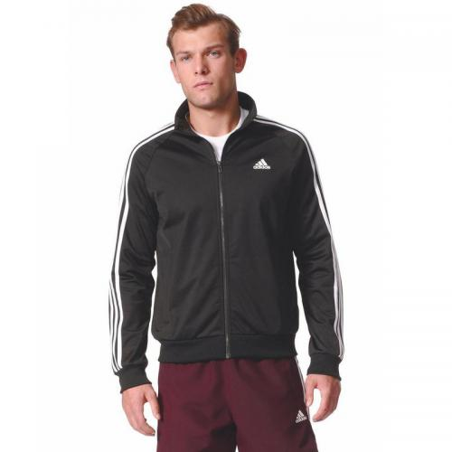 Adidas Performance - Veste zippée manches longues homme Essentials 3 Stripes adidas Performance - Noir - Gilets zippés homme