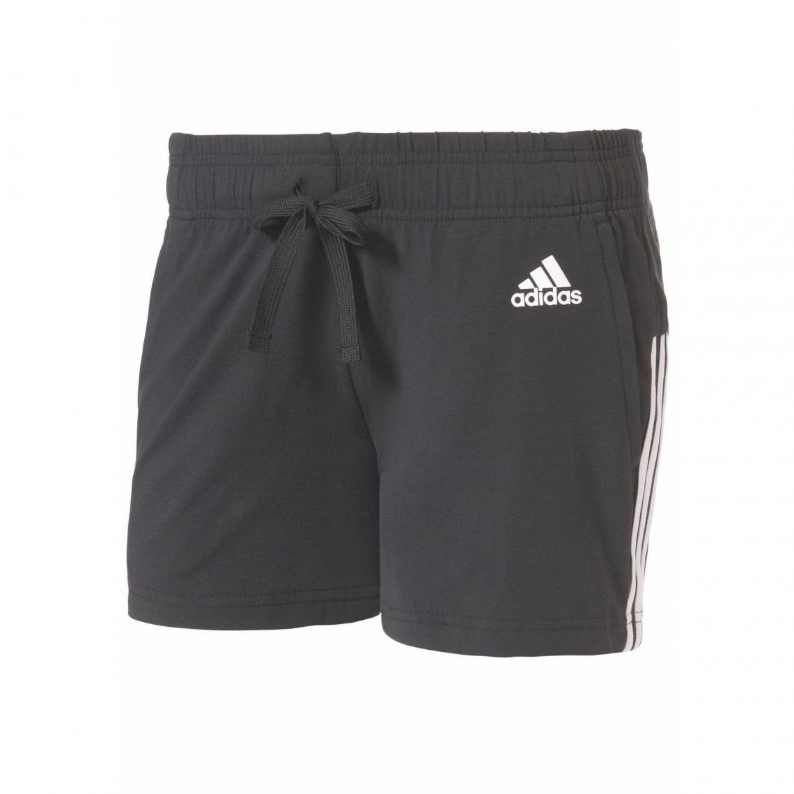Short court femme Essentials 3 Stripes Short adidas Performance - Noir -  Blanc Adidas Performance 65a3ca59563