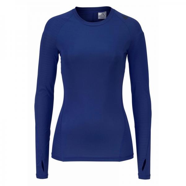 Tee-shirt de sport manches longues femme ALPHASKIN TEC adidas Performance® - Bleu Adidas Performance