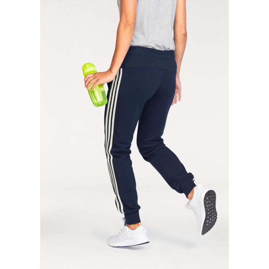 Pantalons de sport femme Adidas Performance Cliquez l image pour  l agrandir. Jogging adidas Performance Essential 3S pant cuffed ... b0879117d15
