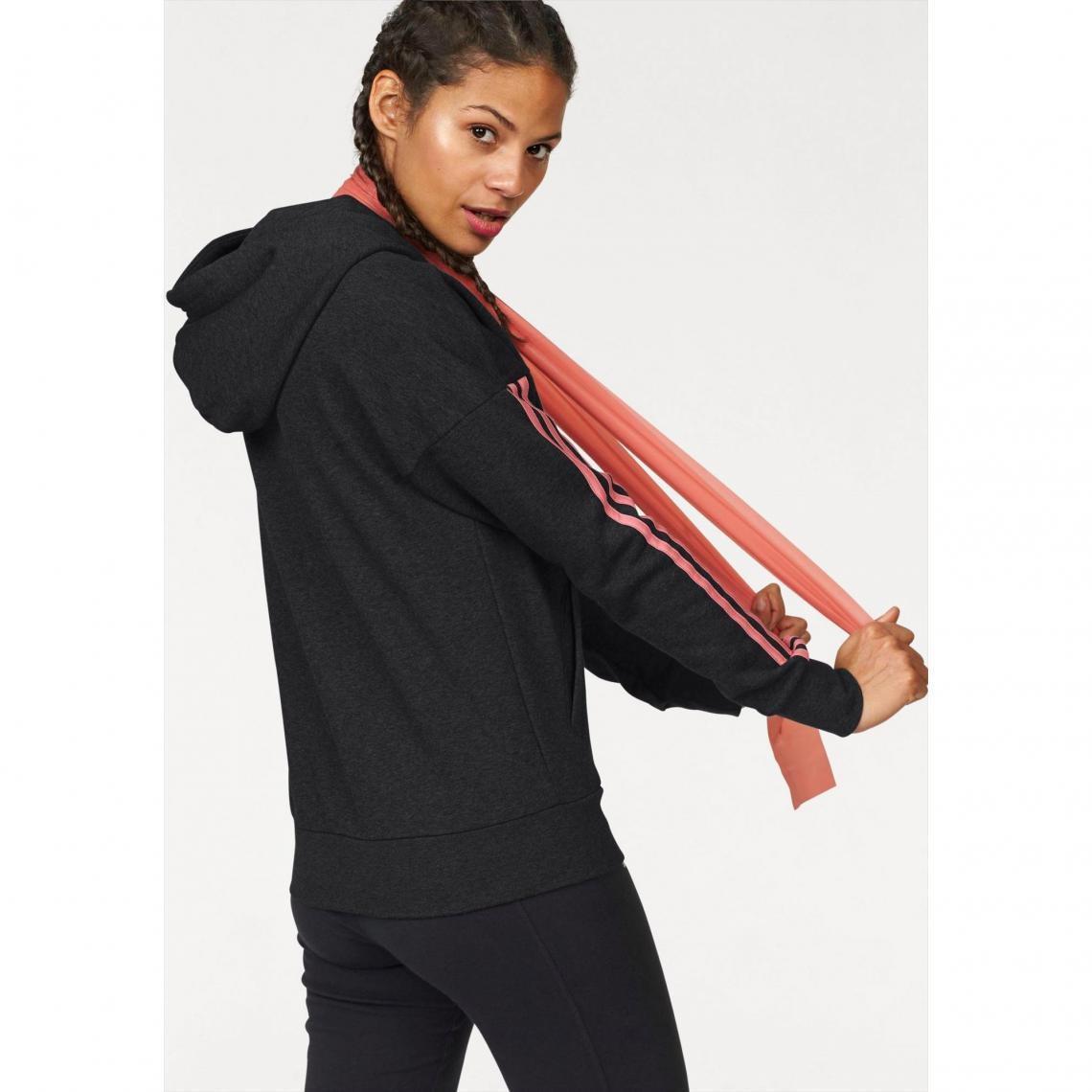 c1b2312b9f72d Sweat-shirt capuche femme Essentials 3 Stripes Fullzip Hoodie adidas ...