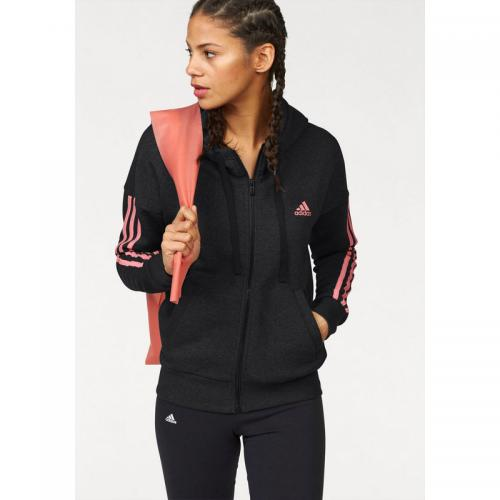 Adidas Performance - Sweat-shirt capuche femme Essentials 3 Stripes Fullzip Hoodie adidas Performance - Noir - Adidas Performance