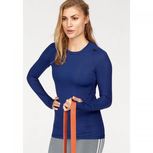Adidas Performance - Tee-shirt de sport manches longues femme ALPHASKIN TEC adidas Performance® - Bleu - Adidas Performance