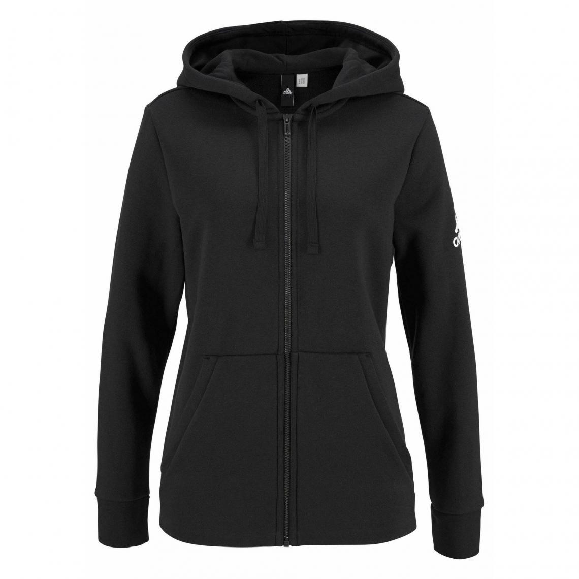 Manches Essentials Solid Longues Capuche Femme Sweat Adidas À Zippé Rqw545