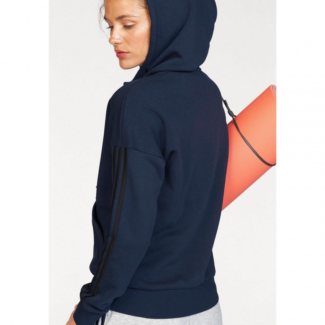 acda1f5e6b62 Sweat-shirt capuche femme Essentials 3 Stripes Fullzip Hoodie adidas ...